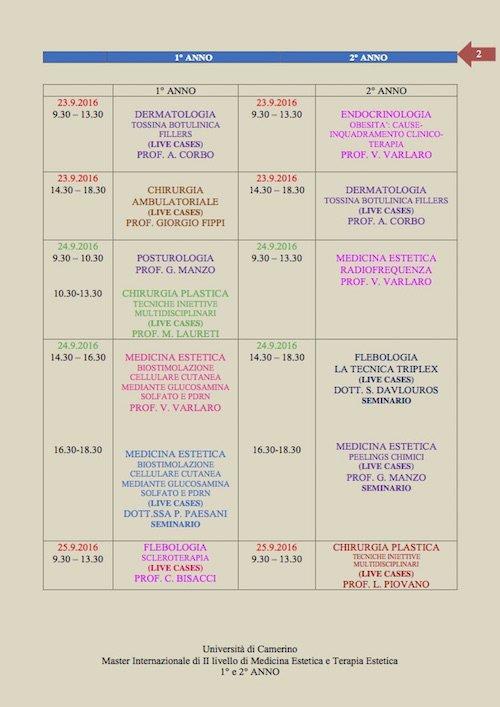 2 UNICAM PROGRAMMA ROMA SETTEMBRE 2016