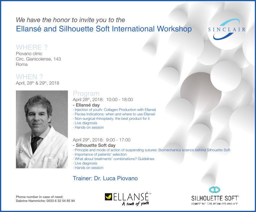 Ellansé and Silhouette Soft International Workshop