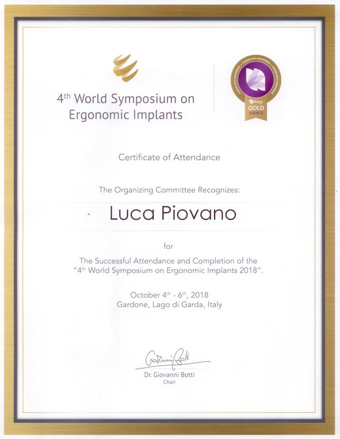 4th world symposium on ergonomic implants